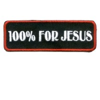 100% for Jesus Red Sm Patch