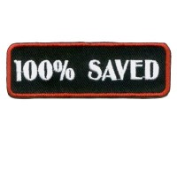 100% Saved Red Patch