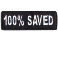 100% Saved White Patch