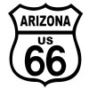 Route 66 Arizona Black on White patch