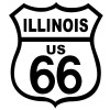 Route 66 Illinois Black on White patch
