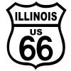 Route 66 Illinois Black on White patch