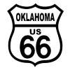 Route 66 Oklahoma Black on White patch