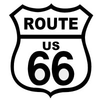 Route US 66 Black on White patch