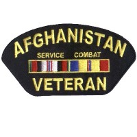Afghanistan Veteran ball cap patch