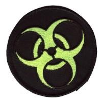 BioHazard patch green on blk