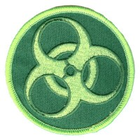 BioHazard patch Green on Green