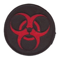 BioHazard patch red on blk