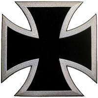 Choppers Cross Silver Lg Patch