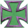 Iron Cross Purple on Green small patch
