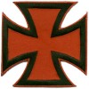 Iron Cross Black on Red Small Patch