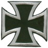 Iron Cross Silver on Black Small Patch