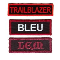 Custom 3 Inch Name patches