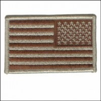US Flag Desert Reverse Patch