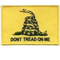 Dont Tread On Me Flag Back Patch