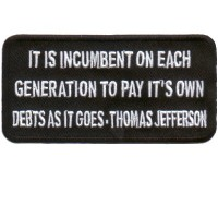 Each Generation Pays its own Debt