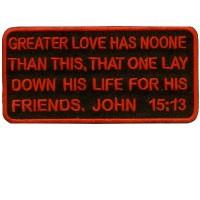 John 15-13 patch