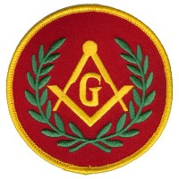 Masonic G-Red patch Lg