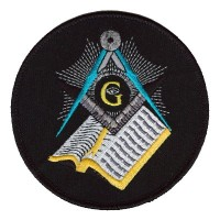 Masonic Bible patch Lg