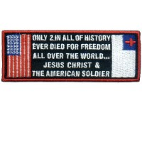 American Soldier and Jesus Christ Patch