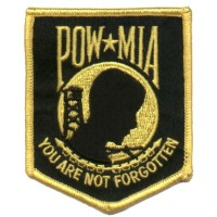 POW MIA You are not Forgotten Sm yellow/gold Patch