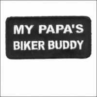 Papas Biker Buddy Patch