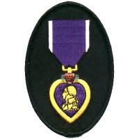 Purple Heart oval patch