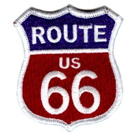 Route 66 US Red, White, Blue patch