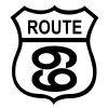 Route 69 Black on White patch