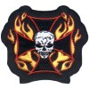 Skull Cross Flames small