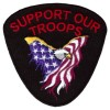 Support Our Troops Eagle Sm Patch
