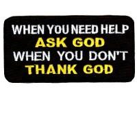 Ask God Thank God patch