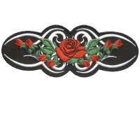 Tribal Red Rose Sm Patch