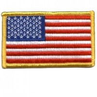 US Flag Gold Patch