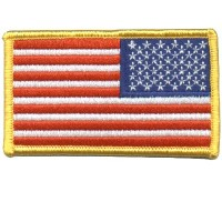 US Flag Gold Reverse patch
