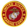 US Marines Round Patch