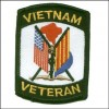 VietNam Veteran 2 Flags Patch