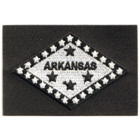 ARKANSAS FLAG BLACK TACTICAL -custom border