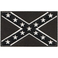 CONFEDERATE FLAG BLACK AND WHITE