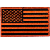 USA FLAG-ORANGE AND BLACK
