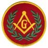Masonic G-Red patch 3 inch