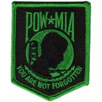 POW MIA You are not Forgotten Sm Kelly Green Patch