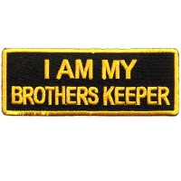 I am my Brother Keepers yellow gold on black patch