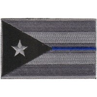 Puerto Rico Subdued Blue Line flag