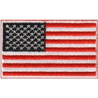 USA FLAG-red white and black field