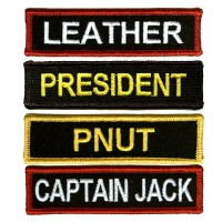 Custom 4 Inch Name patches