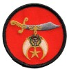 Shrine Scimitar patch Sm red
