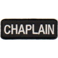 Black Chaplain patch