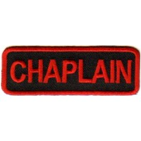 Red Chaplain patch