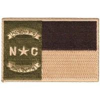 NC FLAG BROWN/TAN SUBDUED NO BORDER